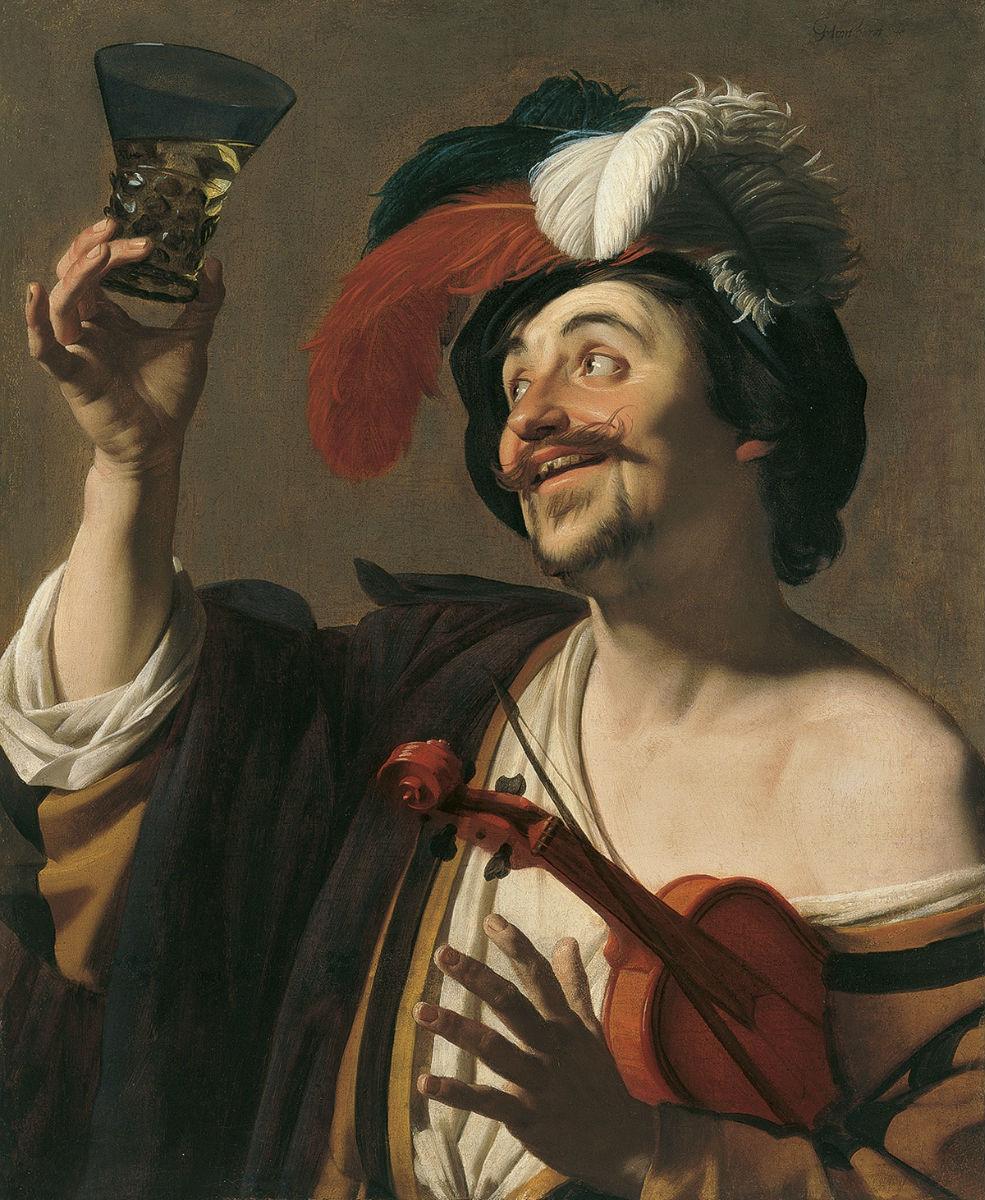 Violinista y vino