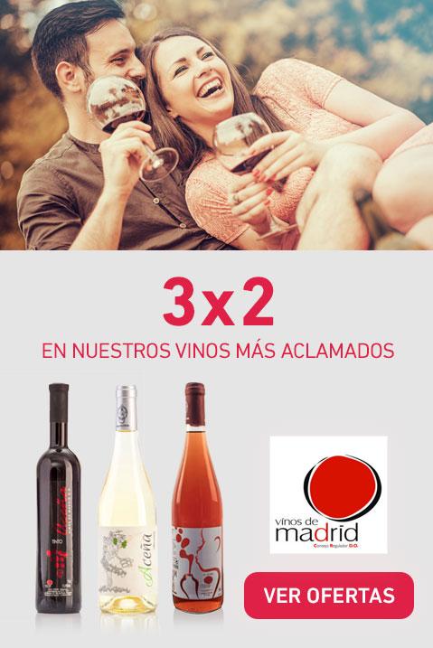 3x2 En nuestros vinos más aclamados