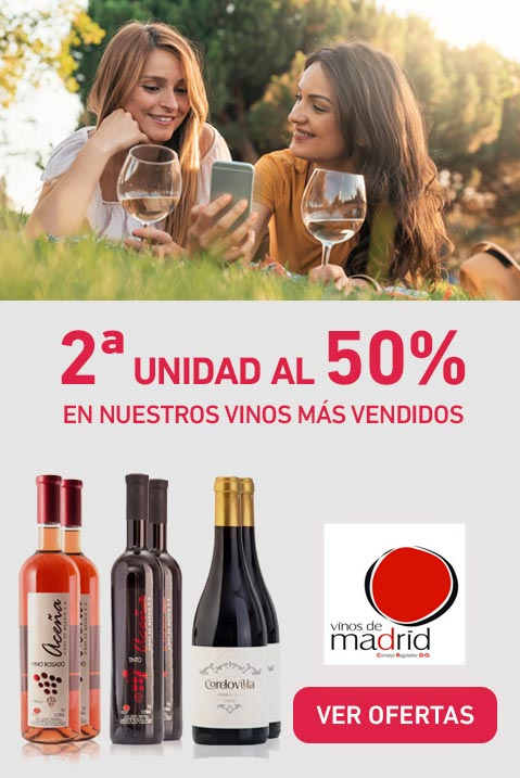2ª unidad al 50% - En nuestros vinos más vendidos