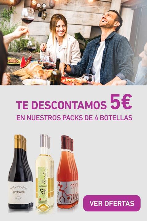Te descontamos 5€ en nuestros packs de 4 botellas
