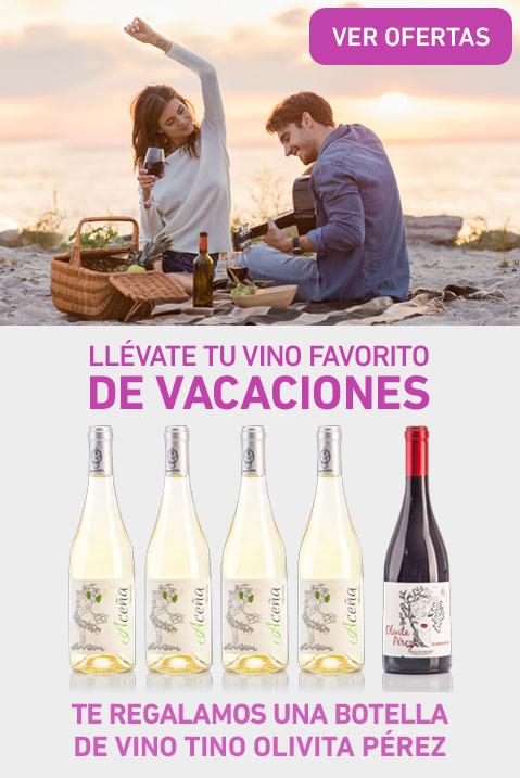 Te regalamos una botella de vino tinto Olivita Pérez