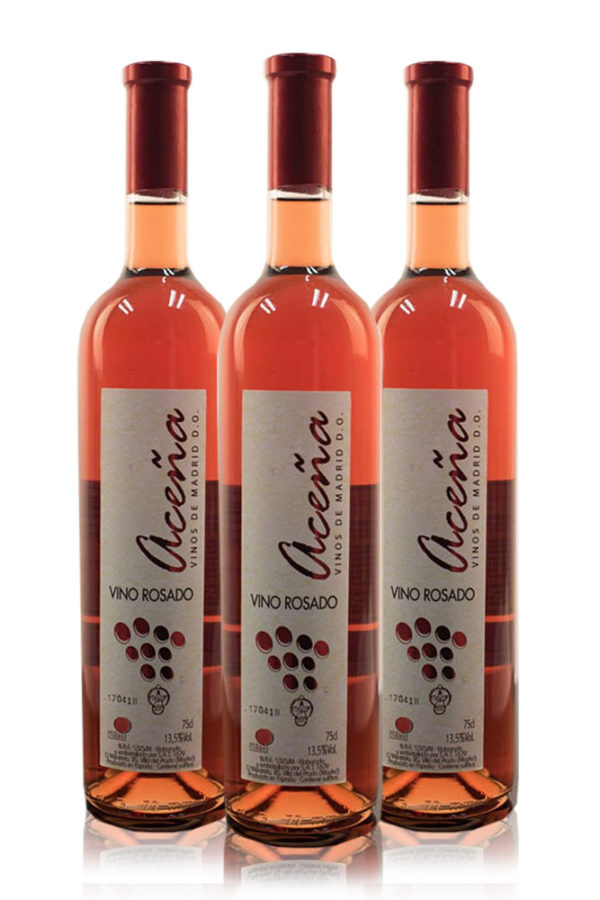 "Pack Vino Rosado Semidulce Aceña D.O. ""Vinos de Madrid"" 3 Botellas"
