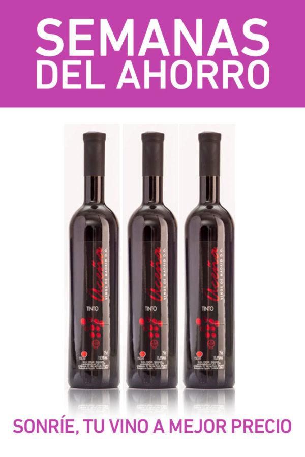 pack vino tinto semidulce madrid